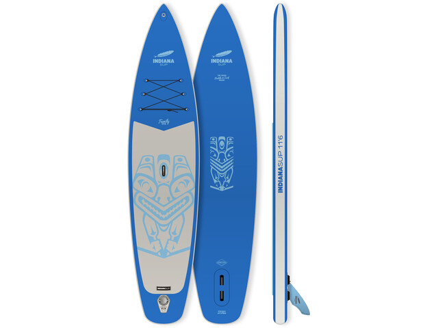 Indiana SUP 11'6 Family Pack with 3-piece Fibre/Composite Paddle, azul/gris